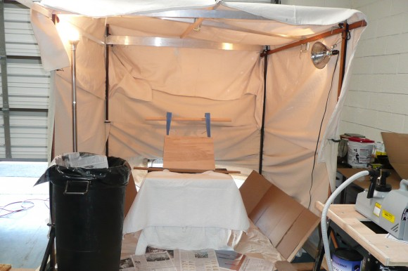 Spray Tent with Panel Support Frame