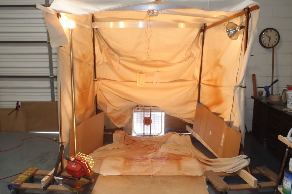 Spray Tent Showing Exhaust