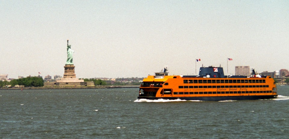 Staten Island Ferry and Statue of Liberty, New York Harbor, 1993
