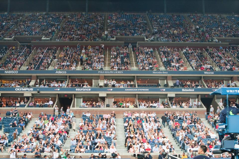 Spectators, Arthur Ashe Stadium, 2011