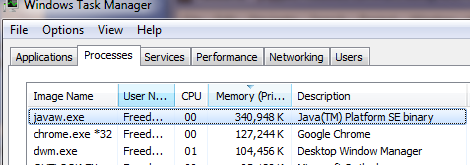 Geppetto Memory Usage